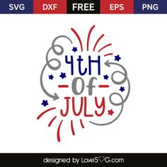 *** FREE SVG CUT FILE for Cricut, Silhouette and more *** 4th of July