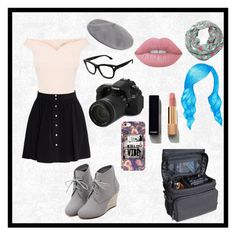 """""""Be a Photographer"""" by jaycrew-a ❤ liked on Polyvore featuring WithChic, IRO, Eos, Lime Crime, Halogen, Valentino, Chanel, Pusheen and Nikon"""