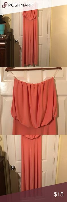 Strapless Coral Jumpsuit Made of spandex and polyester, very elastic, great for height. Worn twice. Fascination Other
