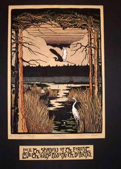 Kathleen West / Kestrel Studios - Arts & Crafts block prints