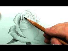 КАК нарисовать БЕЛУЮ РОЗУ карандашом - YouTube