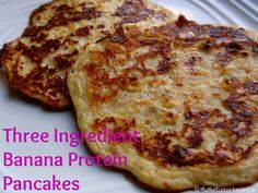 """Three Ingredient Banana Protein Pancakes: Ingredients 1/4 cup Cottage Cheese 1 Extra Large Egg 1/2 Banana, mashed Cinnamon  Directions 1. Whip cottage cheese in food processor until """"uncurdled"""".  2. Combine ingredients in bowl. 3. On a preheated skillet at medium low heat, spray nonstick cooking spray. 4. Allow cooking spray to settle and then add batter. 5. Allow to cook slowly so the pancakes don't burn. When the edges have browned a bit, flip and cook other side."""