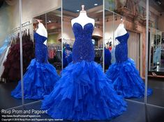 Royal Strapless Sweetheart Cut Out Back Mermaid Prom