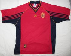 Men Adidas FEF Spain National Soccer Football Futbol Jersey Shirt sz XL #adidas #Spain Euro 1996, Adidas Shirt, Football Soccer, Jersey Shirt, Online Price, Polo Ralph Lauren, Best Deals, Mens Tops, Fashion