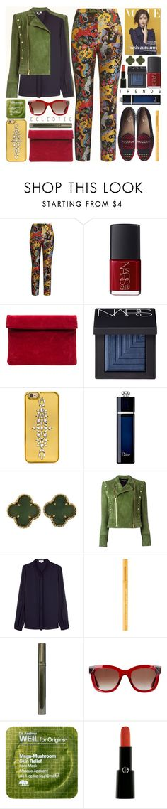 """""""Eclectic Autumn Trend"""" by anna-anica ❤ liked on Polyvore featuring Mary Katrantzou, NARS Cosmetics, BaubleBar, Christian Dior, Van Cleef & Arpels, Balmain, Reiss, Communication Love, Too Faced Cosmetics and Thierry Lasry"""