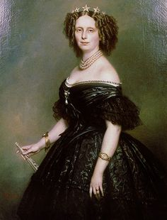 Portrait of Queen Sophie of Netherlands, born Sophie of Württemberg. She died in 1877.  Date	1863	  Franz Xaver Winterhalter (1805–1873)