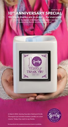Scentsy WOTM for March 2014 ~ Warmer of the Month New for Spring 2014 available 3/1/2014