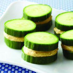 Cucumber Hummus Sandwiches, Plus More Quick Kids' Snacks