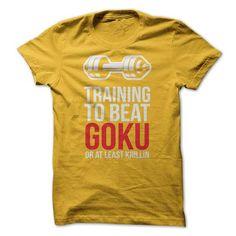 Training To Beat Goku T Shirts, Hoodies, Sweatshirts. CHECK PRICE ==► https://www.sunfrog.com/TV-Shows/Training-To-Beat-Goku-.html?41382