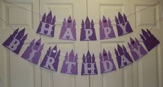 Princess Castle Birthday Banner (Sofia the First)