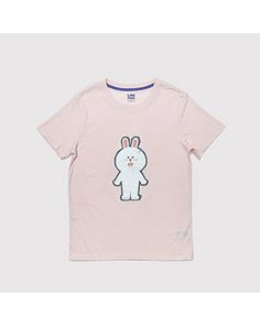 K2POP - LINE FRIENDS STORE OFFICIAL GOODS : GRUNGE CONY T-SHIRTS (PINK) Line Cony, Line Friends, Grunge, T Shirts For Women, Store, Pink, Mens Tops, Fashion, Moda