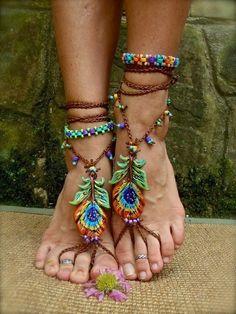 hippie foot jewelery