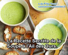 Découvrez la recette de ma grand-mère de la soupe à l'ail des ours, délicieuse et saine ! Découvrez l'astuce ici : http://www.comment-economiser.fr/recette-secrete-soupe-ail-ours.html?utm_content=bufferaf9a8&utm_medium=social&utm_source=pinterest.com&utm_campaign=buffer