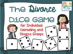 THE DIVORCE DICE GAME Looks like a great resource if you know someone who is going through a divorce with kids! Dice Game that encourages expression of feelings and thoughts related to a… Elementary School Counseling, School Counselor, Elementary Schools, Psychology Programs, Psychology Student, Counseling Activities, Therapy Activities, Therapy Ideas, Group Counseling
