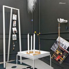 String korteille ja muistilapuille, Belt kynttelikkö ja Hang out lehdille.  Design Boulevardilta www.designboulevard.fi
