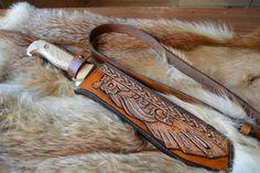 Купить Фентези стиль классик образец ножен на заказ - чехол для ножа, ножны, кожа натуральная