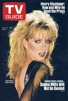 "TV Guide April 1983 ~ Donna Mills of ""Knots Landing"" Donna Mills, Knots Landing, Pose Reference Photo, Great Tv Shows, Vintage Tv, Female Stars, Tv Guide, Old Tv, Classic Tv"
