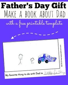 Homemade Father's Day gift from kids: A book about Dad - The Measured Mom