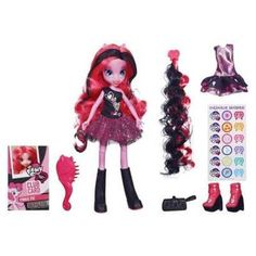 My Little Pony Equestria Girl Pinkie Pie Pink & Black Hair USA RELEASE Exclusive