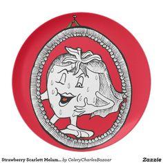 Strawberry Scarlett Melamine Plate