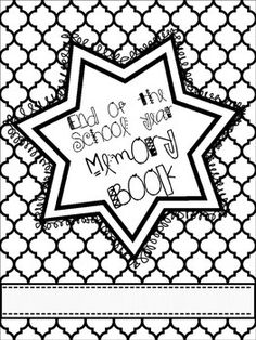 End of the School Year Memory Book {{freebie}}