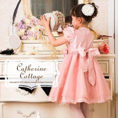子供ドレス ロイヤルローズドレス オーガンジー切替ドレス 子供 フォーマル 結婚式    キャサリンコテージ CatherineCottage