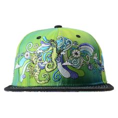 Vincent Gordon Seahorse Green Snapback #art #artist #cf-size-l-xl