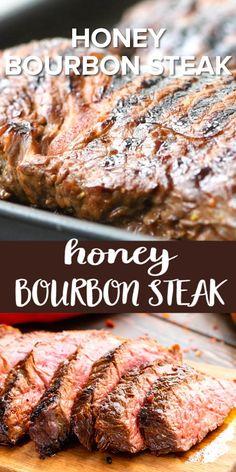 Steak Marinade Recipes, Grilled Steak Recipes, Grilled Meat, Meat Recipes, Mexican Food Recipes, Cooking Recipes, Grilled Chicken, Chicken Recipes, Bourbon Steak Recipe