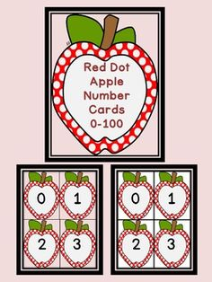 Here is a set of red dot apple number cards that can be used at the beginning of the school year or anytime. There is a color background card for each number as well as a white background card for each number to save on ink or for if you would like to cut the apples out.