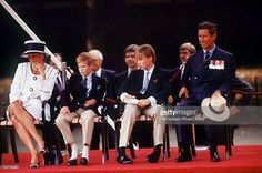 The Prince & Princess Of Wales & Princes William & Harry Attend Vj Day Commemorative Events
