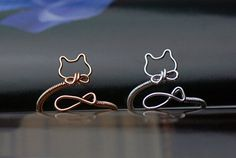 Cat ringadjust ringgold cat ringsilver cat ring by Mydiyjewelry, $28.99