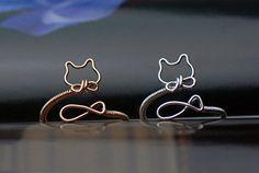 Cat ringadjust ringgold cat ringsilver cat ring by Mydiyjewelry, $28.99