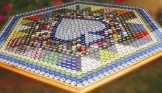Bottle Cap Table with UltraClear Epoxy