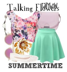 """Talking Flowers"" by tallybow ❤ liked on Polyvore featuring Betsey Johnson, Loeffler Randall, Lipsy, Westward Leaning, LE3NO and Summit by White Mountain"