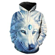 Wolf Hoodie 3D Full Printing //Price: $46.00 & FREE Shipping //     #hokages   #naruto #narutouzumaki #shinobi #shippuden #manga Naruto Uzumaki, Funny Wolf, Wolf Hoodie, Mens Sweatshirts, Hoodies, Wolf Mask, Anime Store, Scarf Sale, White Wolf