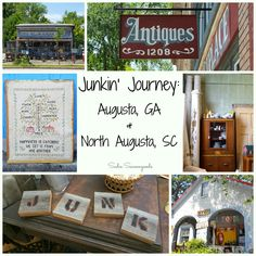 Looking to go junkin' in Augusta, Georgia GA and North Augusta, South Carolina SC? I hit up several fantastic antique, thrift and vintage shops and stores during my latest road trip and shared them with you on the blog! #SadieSeasongoods / www.sadieseasongoods.com