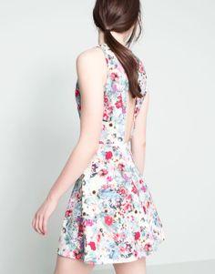 :FLORAL-PRINT DRESS