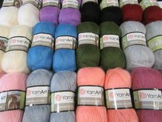 Angore de lux will be the best choice for detailed scarfs and special occasion knits.Weight Light Fingering Meterage 560 yards(512 meters)Unit weight 100 grams (3.53 ounces)Gauge 36.0 sts = 4 inchesNeedle size US 1½ - 6 or 2.5 - 4mmHook size 3.5 mm (E)Fibers70% Goat - Mohair30% Manufactured Fibers - AcrylicTexturePlied Angora, Yarn Brands, Sheep Wool, Needles Sizes, Wool Yarn, Scarfs, How To Introduce Yourself, Knits, Special Occasion