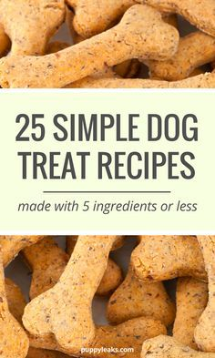 Homemade Dog Food 25 homemade dog treat recipes - Want to make some homemade dog treats? Here's 25 simple dog treat recipes, all made with 5 ingredients or less. From grain free treats to frozen options, Dog Cookie Recipes, Easy Dog Treat Recipes, Homemade Dog Cookies, Dog Biscuit Recipes, Homemade Dog Food, Dog Food Recipes, Homemade Dog Biscuits, Chicken Dog Treat Recipe, Homemade Doggie Treats