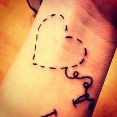 Heart Tattoos | stitch heart tattoo | Tattoo Ideas Central