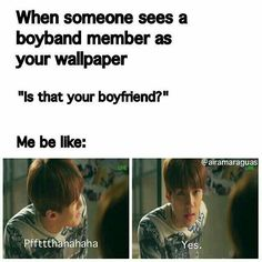 This happened to me literally last week with Taehyung. x'DDD