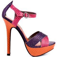 Luichiny Bow Tie - Pink Purple Orange ($81) ❤ liked on Polyvore