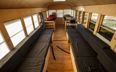 Amazing Minimalist School Bus Conversion - inspiration for renovation