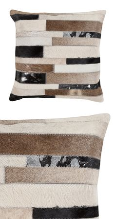 Show your wild side with this Hyde Park Throw Pillow, a surprisingly chic accent that embraces an animalistic motif. Natural hair-on hide creates a rugged and textured effect in color variations that c...  Find the Hyde Park Throw Pillow, as seen in the Rustic Industrial Living Collection at http://dotandbo.com/collections/rustic-industrial-living?utm_source=pinterest&utm_medium=organic&db_sku=114941