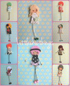 Broches de fieltro littlechicthings