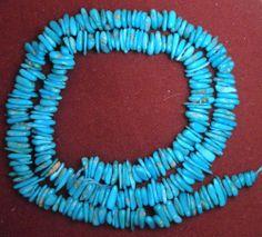 "Sleeping Beauty Turquoise Loose  Natural Blue Pebble Beads 18"" Strand Lot #174 #Erthart #Southwest"
