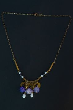Collier purple agate via audreyl-creation. Click on the image to see more!