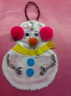 Glue Snowman Ornament- Great for the grandkids