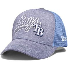 New Era Tampa Bay Rays Women's Navy Shorty Swoop 9FORTY Snapback Adjustable Hat