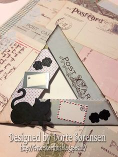 Fasters korthus: a foldet triangle card